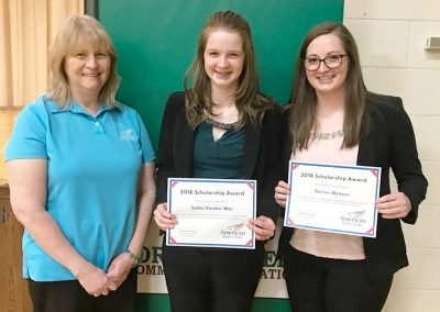 AB&T Scholarship award winners in Mellette