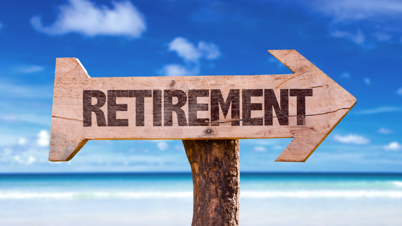 Sign that says retirement