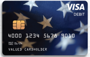 Front of EIP debit card
